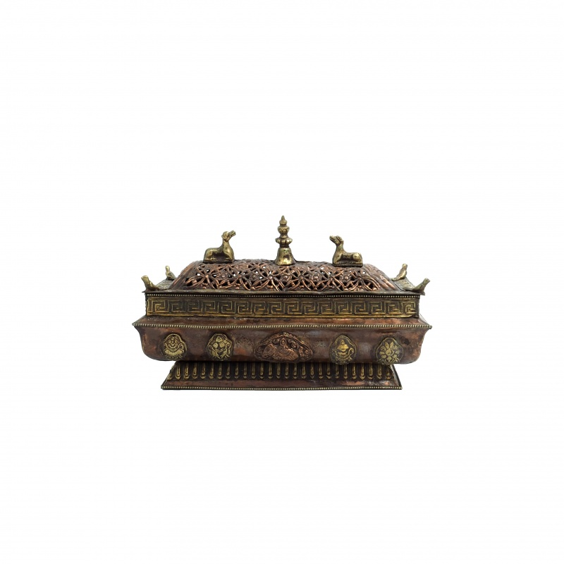 Brûle encens Porte-bonheur Tibétain biches et stupa