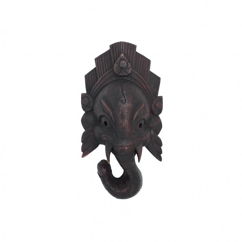 Masque de Baby Ganesh en bois