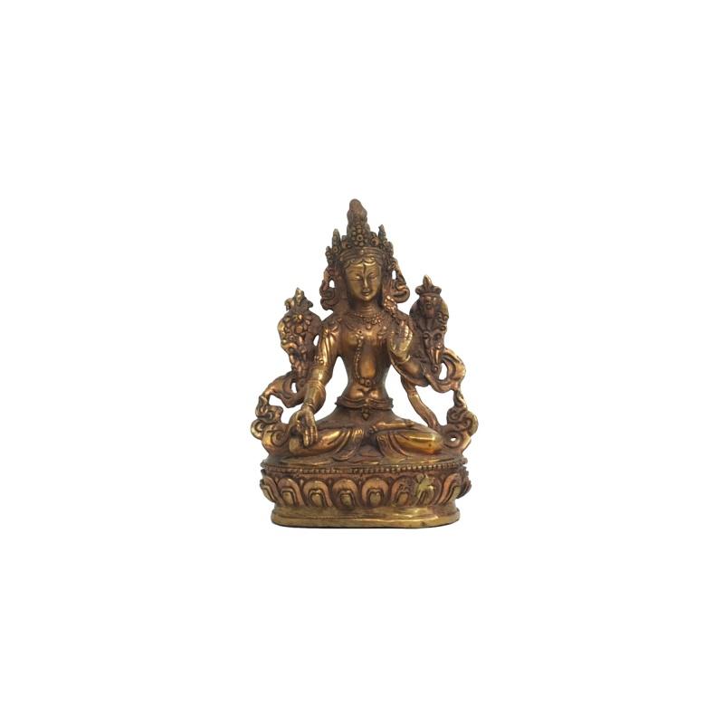 Statue de la Tara Blanche en cuivre