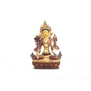 Statue demi-or et cuivre de la Tara Blanche