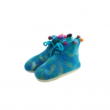 Chausson Pantoufle bleu taille 40