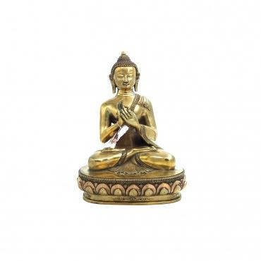 Statue Bouddha de l'Enseignement en cuivre
