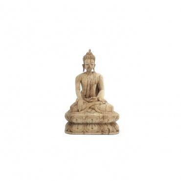 Statue Bouddha en bois de camphre mudra du don