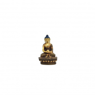 Statue Bouddha Méditation Amitabha demi-or