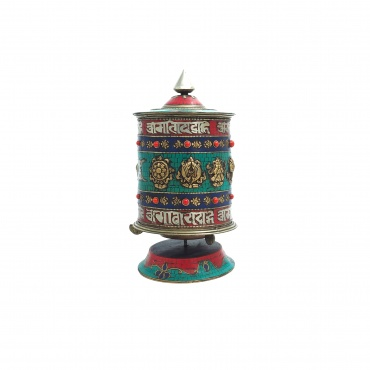 Grand Moulin à prières de table Tibétain