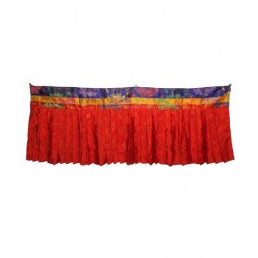 Tenture haut de porte tibétain en tissu - protection