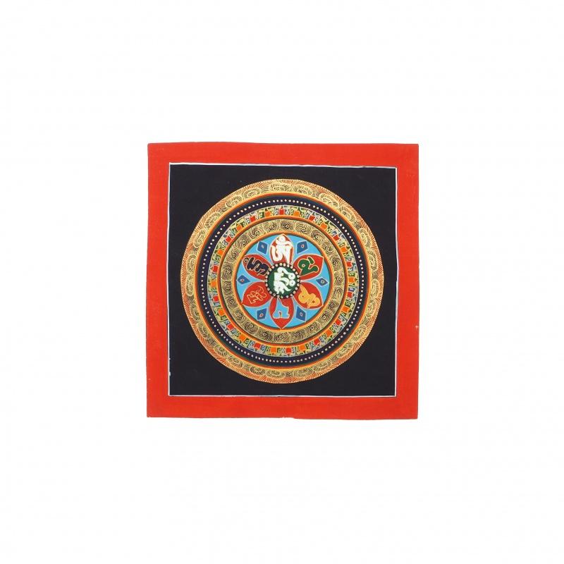 Peinture mandala mantra de la compassion