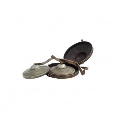 Petites Cymbales tibétaines avec étui