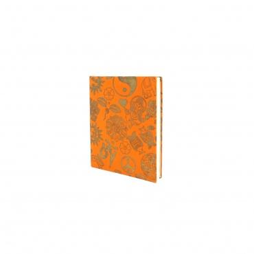 Carnet Cahier d'écriture Porte-bonheur orange