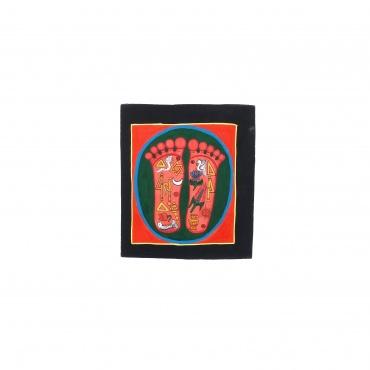 Petite Peinture Tangka Pied de Bouddha