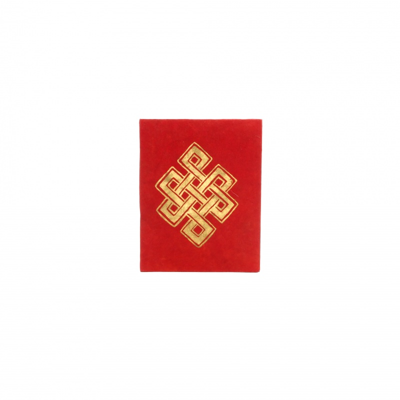 Carnet de Note rouge Noeud sans fin lokta papier format A6