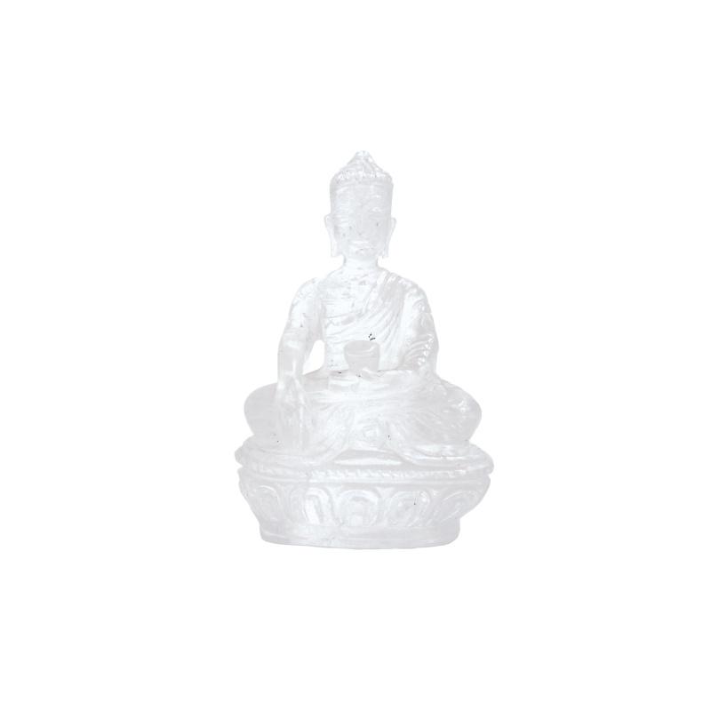 Bouddha Shakyamuni mudra prise de la terre à témoin en cristal de roche