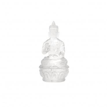 Statue Bouddha Mudra de la Protection ou argumentation cristal de roche