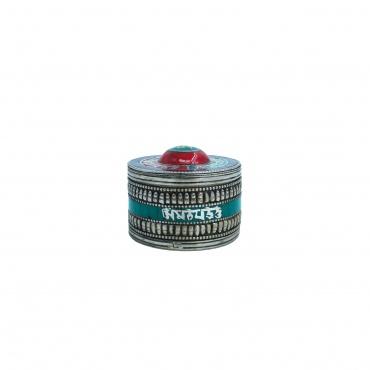 petite boite à bijou écrin AUM lapis lazuli, turquoise et corail