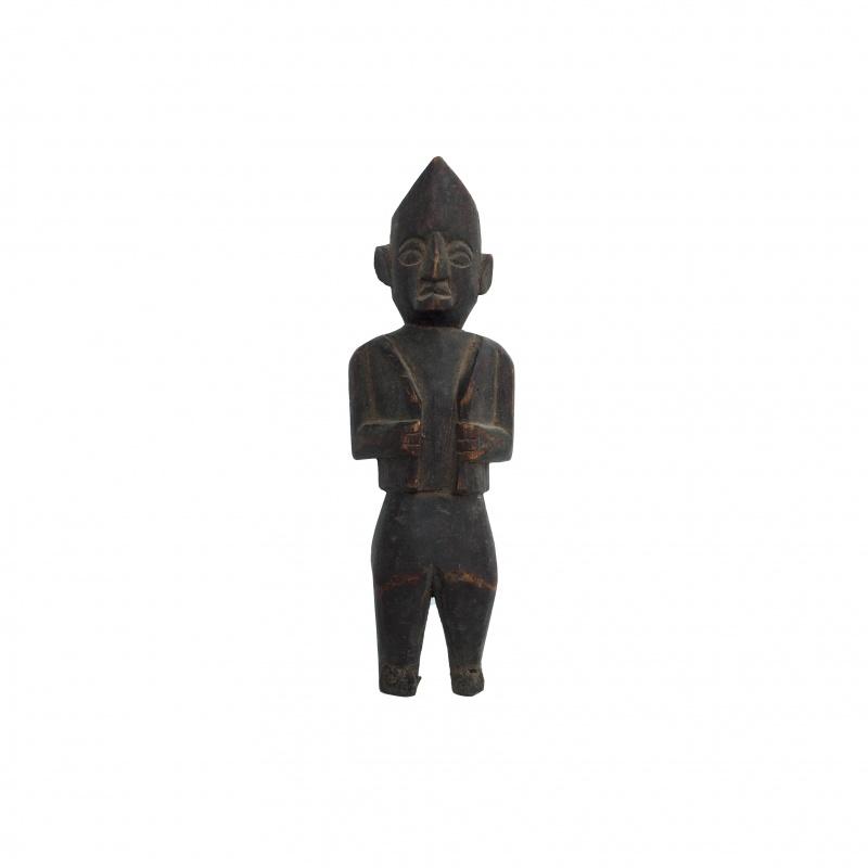 Statue ancienne homme en habit traditionnel Népalais