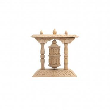 moulin à prières tibétains en bois