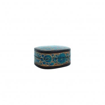 Boîte à bijoux bleu fleurie