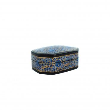 Boîte à bijoux octogonale bleue