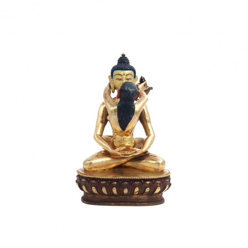 Statue de Bouddha Samantabhadra et sa parèdre Samantabhadri