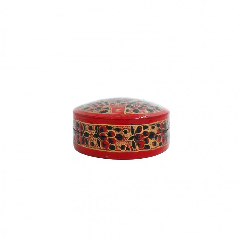Boîte à bijoux ronde et rouge