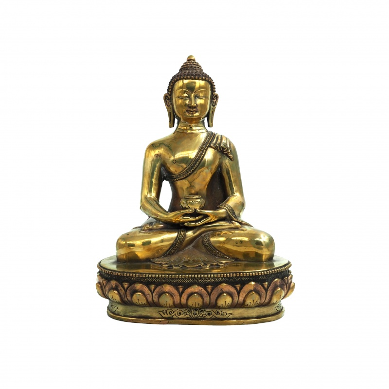 Statue de Bouddha Amitabha en cuivre