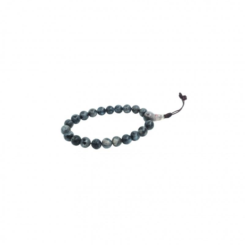 Bracelet en pierre larvikite