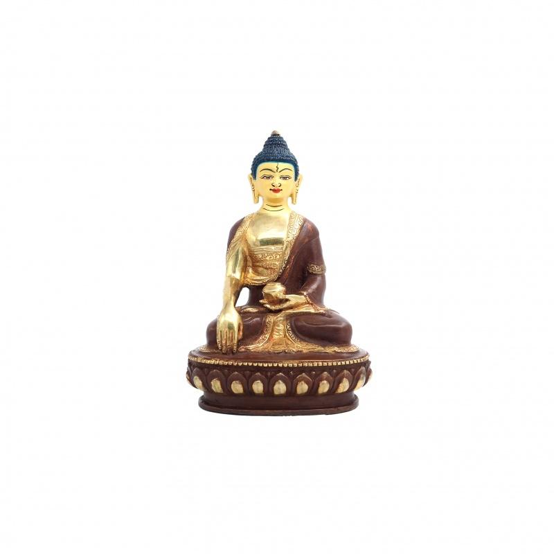 Statue Bouddha Sakia demi or