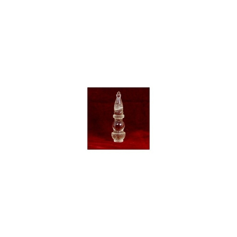 Stupa en cristal  de roche de l'Himalaya