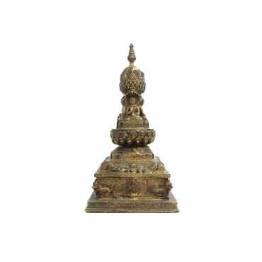 Grand Stupa en laiton
