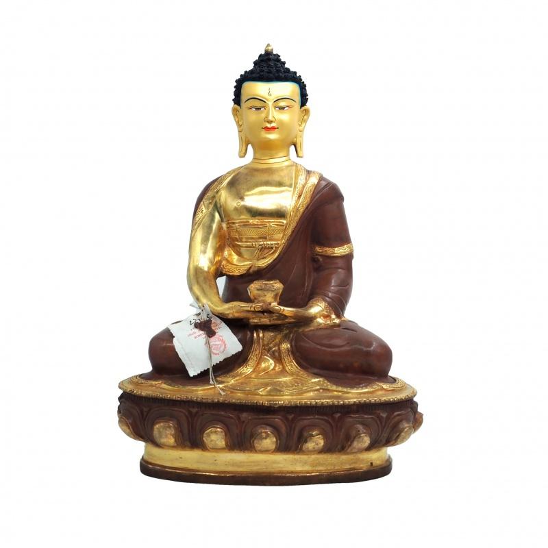 Grande statue demi or Bouddha Amitabha mudra de la méditation