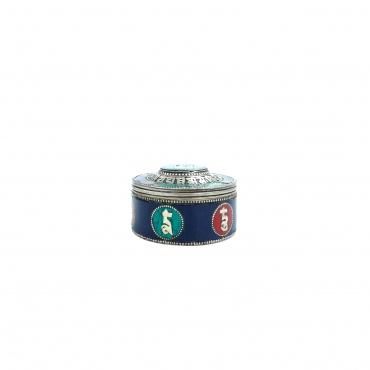 Boîte argentée om Lapis lazuli et turquoise