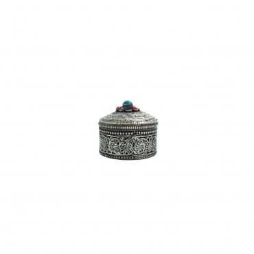 Mini Boîte à bijoux en métal ciselé