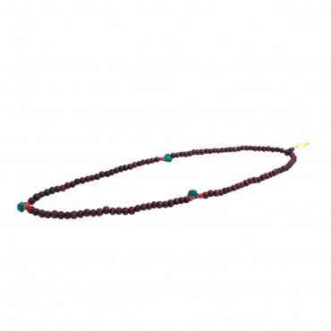 Mala perles de bois et turquoise