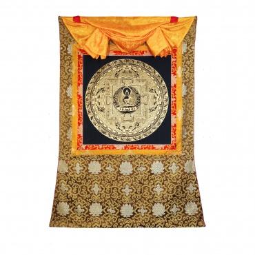 Tangka Mandala Amitabha doré