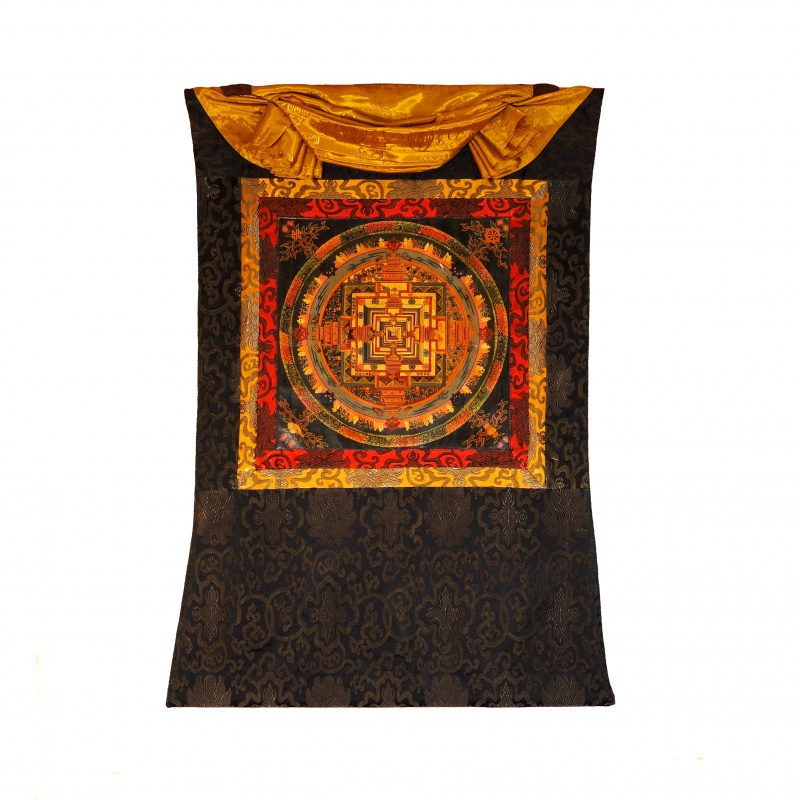 Tangka Mandala Kalachakra Palais des dieux