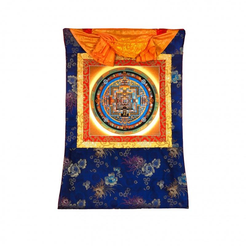Tangka Mandala du Kalachakra avec or