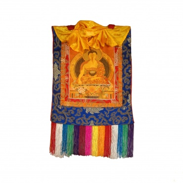 Tangka brodé Bouddha Sakyamuni