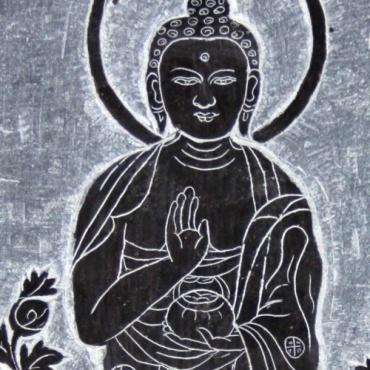 Mani Bouddha de protection - pierre gravée