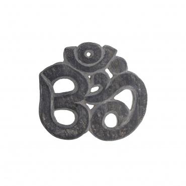 Om sculpté dans la pierre Himalayenne - Mani