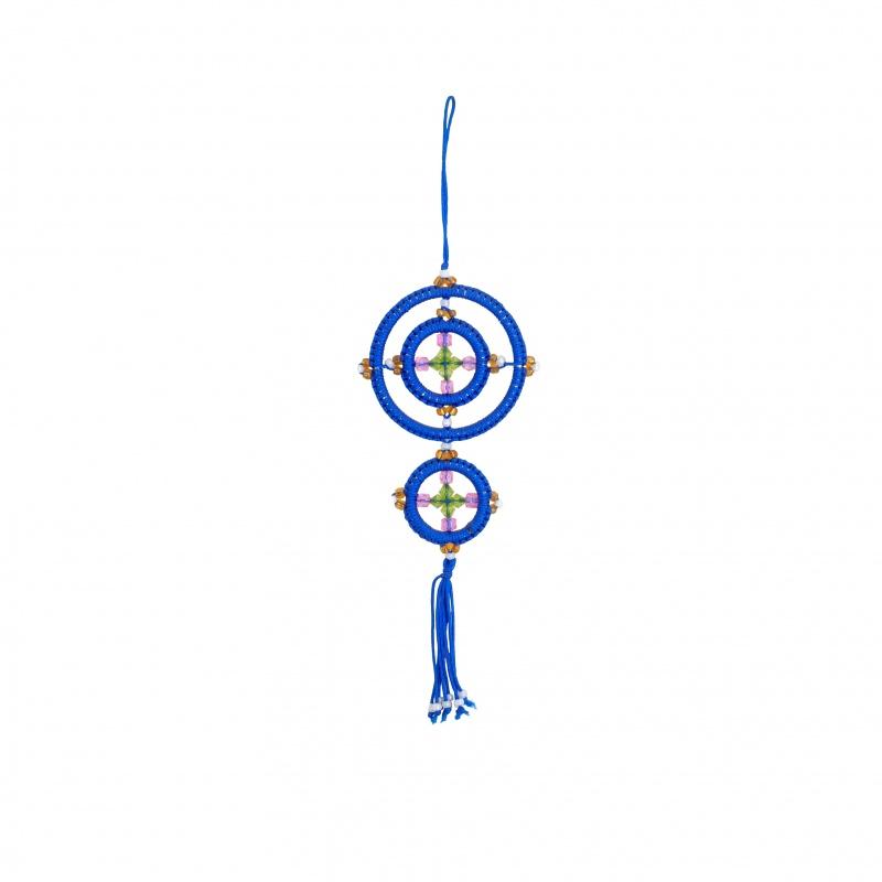 Mandala Porte-Bonheur bleu