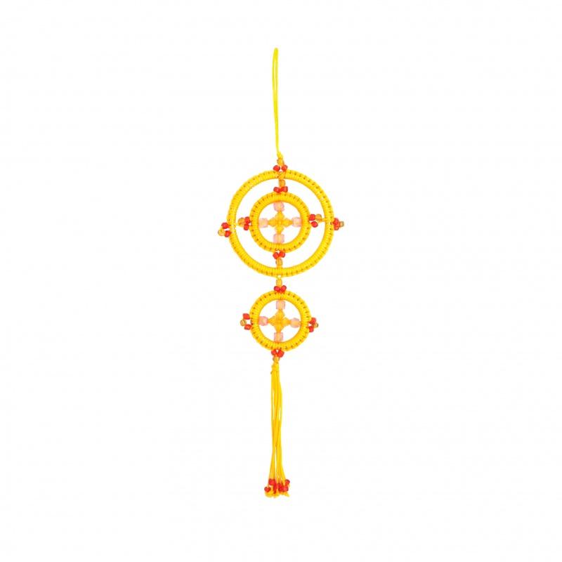Mandala Porte-Bonheur jaune