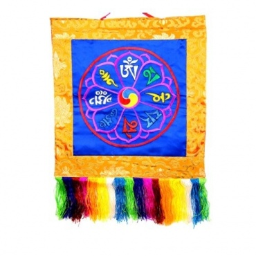 Mandala Tashi bleu OM