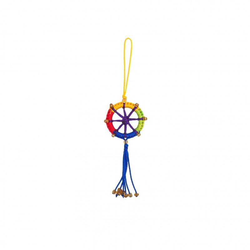 Porte-Bonheur Dharma bouddhiste 5 couleurs