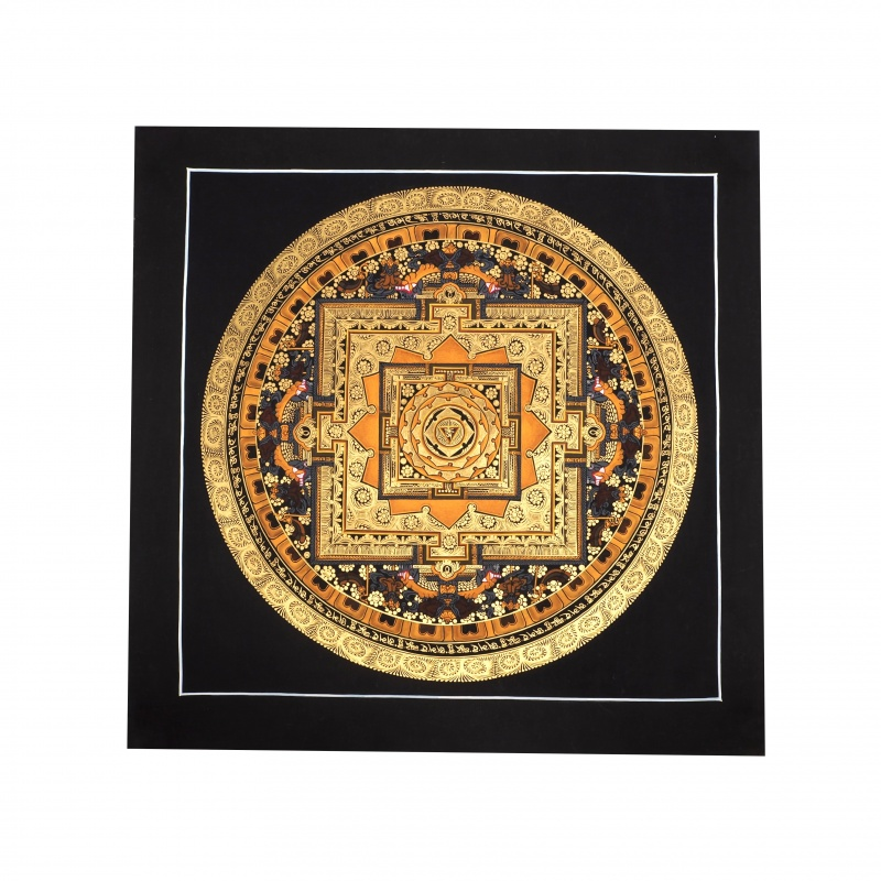 Peinture Mandala OM et équilibre