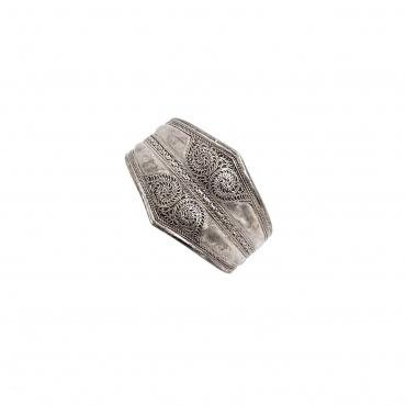 Bracelet en argent ciselé - népal