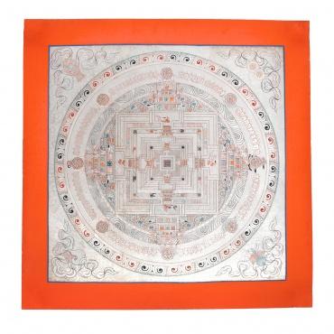 Mandala Kalachakra en argent