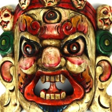 Masque Mahakala blanc PM
