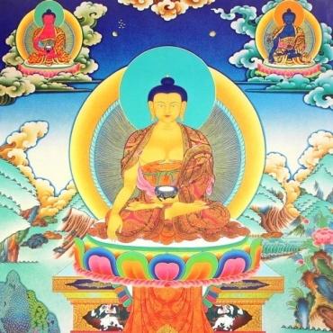 Shakyamuni affiche tanka