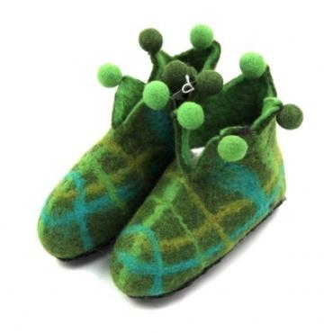 Pantoufles lutin vert 24