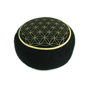 Zafu  Fleur de vie noir